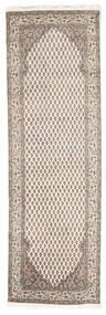 Mir インド 絨毯 80X250 オリエンタル 手織り 廊下 カーペット 薄い灰色/ベージュ (ウール, インド)