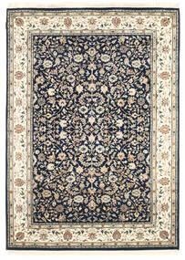 ナイン インド 絨毯 170X236 オリエンタル 手織り ホワイト/クリーム色/薄い灰色 ( インド)