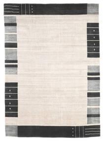 Loribaf ルーム 絨毯 165X233 モダン 手織り ベージュ/ホワイト/クリーム色 (ウール, インド)