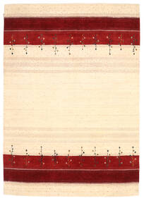 Loribaf ルーム 絨毯 208X295 モダン 手織り ベージュ/深紅色の (ウール, インド)