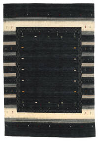 Loribaf ルーム 絨毯 203X299 モダン 手織り 黒 (ウール, インド)