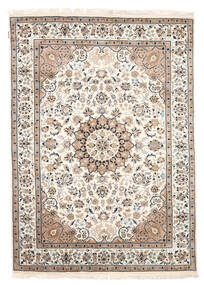 ナイン インド 絨毯 165X232 オリエンタル 手織り ベージュ/薄い灰色 ( インド)