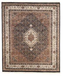 ナイン インド 絨毯 196X233 オリエンタル 手織り 薄い灰色/濃い茶色 ( インド)