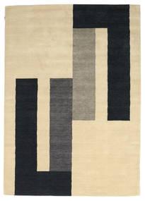 Loribaf ルーム 絨毯 170X241 モダン 手織り ベージュ/黒 (ウール, インド)