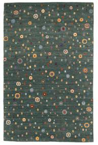 Loribaf ルーム 絨毯 157X242 モダン 手織り 深緑色の/青 (ウール, インド)