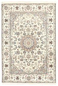 ナイン インド 絨毯 162X236 オリエンタル 手織り ベージュ/薄い灰色 ( インド)