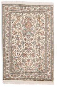 カシミール ピュア シルク 絨毯 64X95 オリエンタル 手織り 薄い灰色/ベージュ (絹, インド)