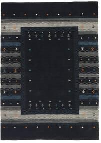Loribaf ルーム 絨毯 165X243 モダン 手織り 紺色の/濃いグレー (ウール, インド)