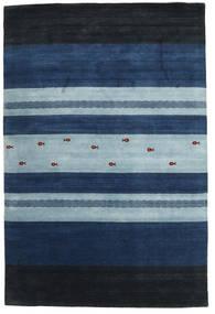 Loribaf ルーム 絨毯 204X304 モダン 手織り 紺色の/水色 (ウール, インド)