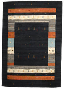 Loribaf ルーム 絨毯 211X305 モダン 手織り 濃いグレー (ウール, インド)