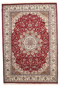 ナイン インド 絨毯 170X248 オリエンタル 手織り 深紅色の/薄い灰色 ( インド)
