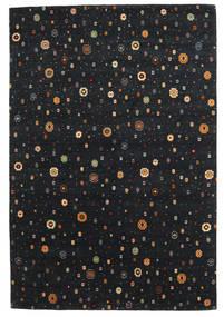 Loribaf ルーム 絨毯 169X238 モダン 手織り 黒 (ウール, インド)