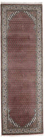 Mir インド 絨毯 78X242 オリエンタル 手織り 廊下 カーペット 濃い茶色/深紅色の (ウール, インド)