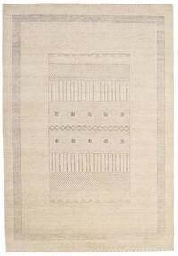 ギャッベ Loribaft 絨毯 191X275 モダン 手織り ベージュ/薄い灰色 (ウール, インド)
