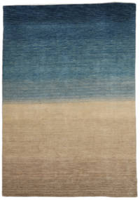 ギャッベ インド 絨毯 158X240 モダン 手織り 薄茶色/紺色の (ウール, インド)