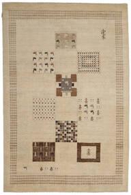 ギャッベ Loribaft 絨毯 200X300 モダン 手織り 薄い灰色/ベージュ (ウール, インド)