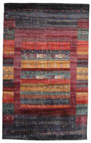 ギャッベ Loribaft 絨毯 145X233 モダン 手織り 深紅色の/濃い茶色/黒 (ウール, インド)