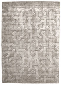 ビスコース モダン 絨毯 170X241 モダン 手織り 濃いグレー/薄い灰色 ( インド)