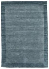 ハンドルーム Frame - Petrol 青 絨毯 160X230 モダン 青 (ウール, インド)