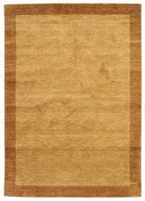 ハンドルーム Frame - ゴールド 絨毯 160X230 モダン 薄茶色/茶 (ウール, インド)