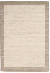 ハンドルーム Frame - ナチュラル/砂色 絨毯 160X230 モダン ベージュ/薄い灰色 (ウール, インド)