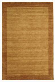 ハンドルーム Frame - ゴールド 絨毯 200X300 モダン 茶/薄茶色 (ウール, インド)