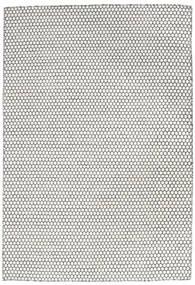 キリム Long Stitch - Cream/黒 絨毯 160X230 モダン 手織り 薄い灰色/ベージュ (ウール, インド)