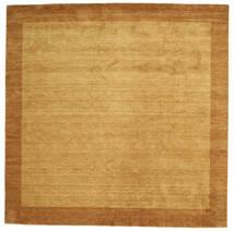 ハンドルーム Frame - ゴールド 絨毯 300X300 モダン 正方形 薄茶色/茶 大きな (ウール, インド)