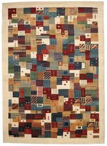 ギャッベ Loribaft 絨毯 245X342 モダン 手織り ベージュ/濃い茶色 (ウール, インド)