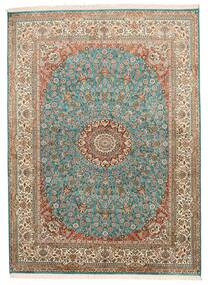 カシミール ピュア シルク 絨毯 159X218 オリエンタル 手織り 茶/濃いグレー (絹, インド)