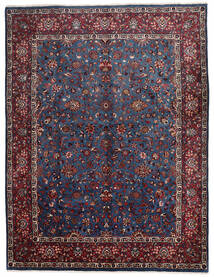 マシュハド 絨毯 305X400 オリエンタル 手織り 黒/深紅色の 大きな (ウール, ペルシャ/イラン)