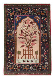 サルーク 絨毯 107X158 オリエンタル 手織り 濃い茶色/薄茶色 (ウール, ペルシャ/イラン)