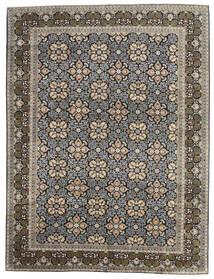 カシャン 絨毯 289X381 オリエンタル 手織り 薄い灰色/濃いグレー 大きな (ウール, ペルシャ/イラン)