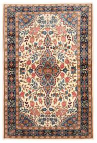 サルーク 絨毯 100X149 オリエンタル 手織り 濃い茶色/暗めのベージュ色の (ウール, ペルシャ/イラン)