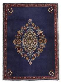 カシャン 絨毯 68X96 オリエンタル 手織り 濃い紫/濃い茶色 (ウール, ペルシャ/イラン)