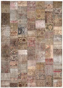 パッチワーク - Persien/Iran 絨毯 254X351 モダン 手織り 薄い灰色/茶 大きな (ウール, ペルシャ/イラン)