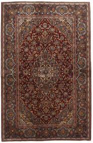 カシャン 絨毯 136X210 オリエンタル 手織り 深紅色の/濃い茶色 (ウール, ペルシャ/イラン)