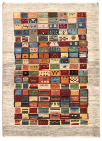 ギャッベ ペルシャ 絨毯 84X118 モダン 手織り ベージュ/深紅色の (ウール, ペルシャ/イラン)