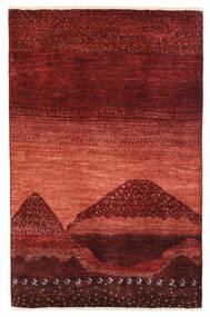 ギャッベ ペルシャ 絨毯 79X122 モダン 手織り 深紅色の (ウール, ペルシャ/イラン)