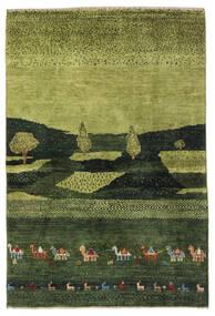 ギャッベ ペルシャ 絨毯 104X150 モダン 手織り 深緑色の/オリーブ色 (ウール, ペルシャ/イラン)