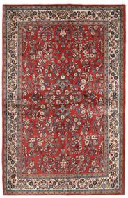 サルーク 絨毯 132X206 オリエンタル 手織り 深紅色の/ベージュ (ウール, ペルシャ/イラン)