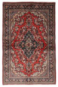 クム Kork/シルク 絨毯 139X212 オリエンタル 手織り 深紅色の/黒 (ウール/絹, ペルシャ/イラン)