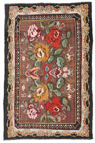 薔薇 キリム Moldavia 絨毯 134X204 オリエンタル 手織り 深紅色の/黒 (ウール, モルドバ)
