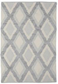 Cilla - Cream/グレー 絨毯 100X160 モダン 手織り 濃いグレー/深緑色の (綿, インド)