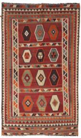 キリム ヴィンテージ 絨毯 133X232 オリエンタル 手織り 深紅色の/薄茶色/濃い茶色 (ウール, ペルシャ/イラン)