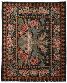 薔薇 キリム Moldavia 絨毯 225X277 オリエンタル 手織り 濃いグレー/濃い茶色 (ウール, モルドバ)