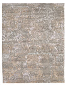 Damask インド 絨毯 244X308 モダン 手織り 薄い灰色 (ウール/バンブーシルク, インド)
