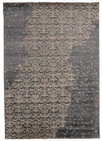 Damask インド 絨毯 217X303 モダン 手織り 濃いグレー/薄い灰色 (ウール/バンブーシルク, インド)