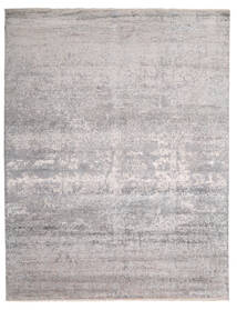 Damask インド 絨毯 242X308 モダン 手織り 薄い灰色/ベージュ (ウール/バンブーシルク, インド)