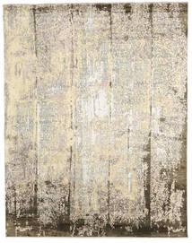 Damask インド 絨毯 239X305 モダン 手織り ベージュ/薄い灰色 (ウール/バンブーシルク, インド)